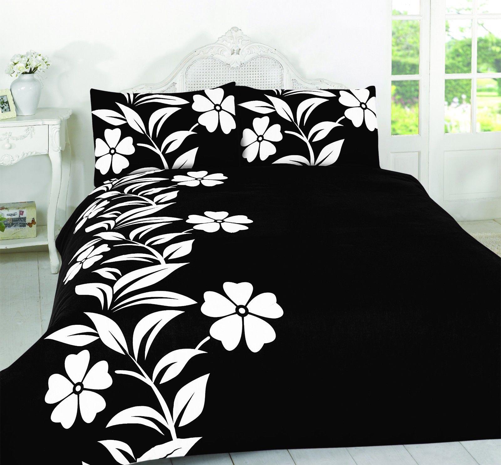 Alyssa Floral Duvet Set With Pillow Case Printed Bedding Set De Lavish