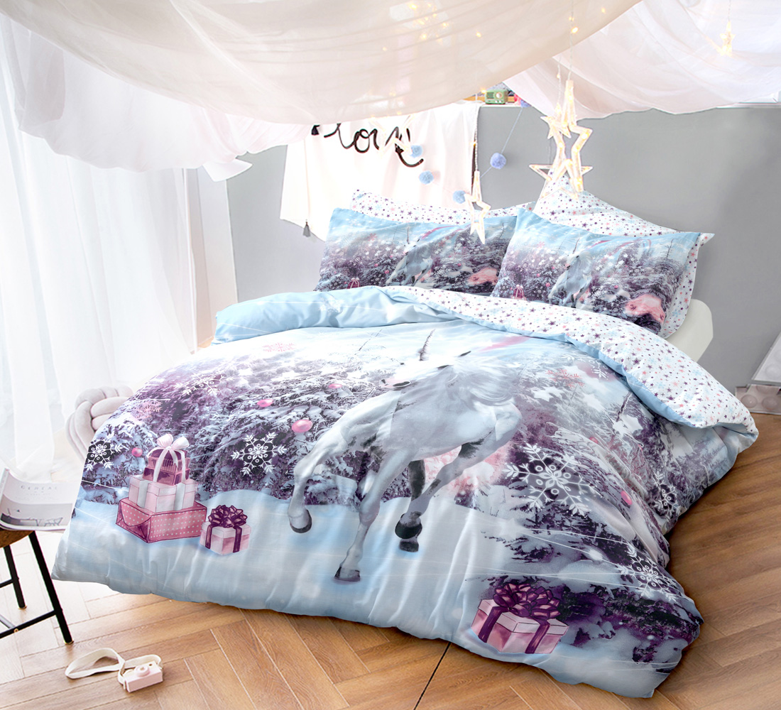 moose reindeer home beddingoutlet christmas festival bed for set print bedding duvet item white cover in and elk red bedspreads sets from knitting