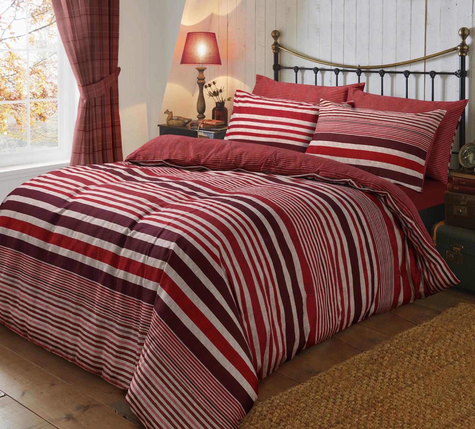 Flannel Stripe Duvet Cover Set Wholesale Bedding Store