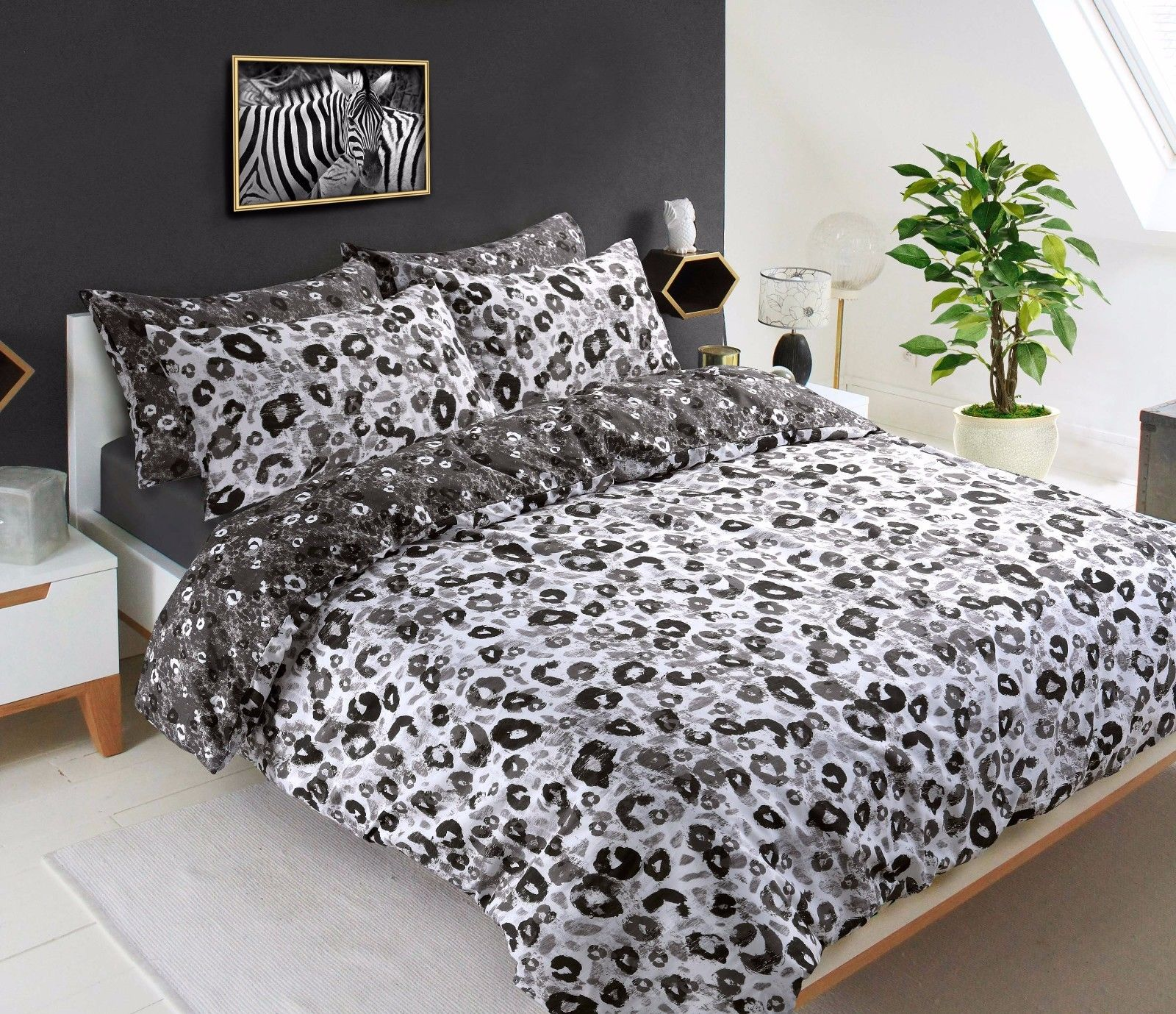 Animal Duvet Set For Single And Double Print Bed De Lavish