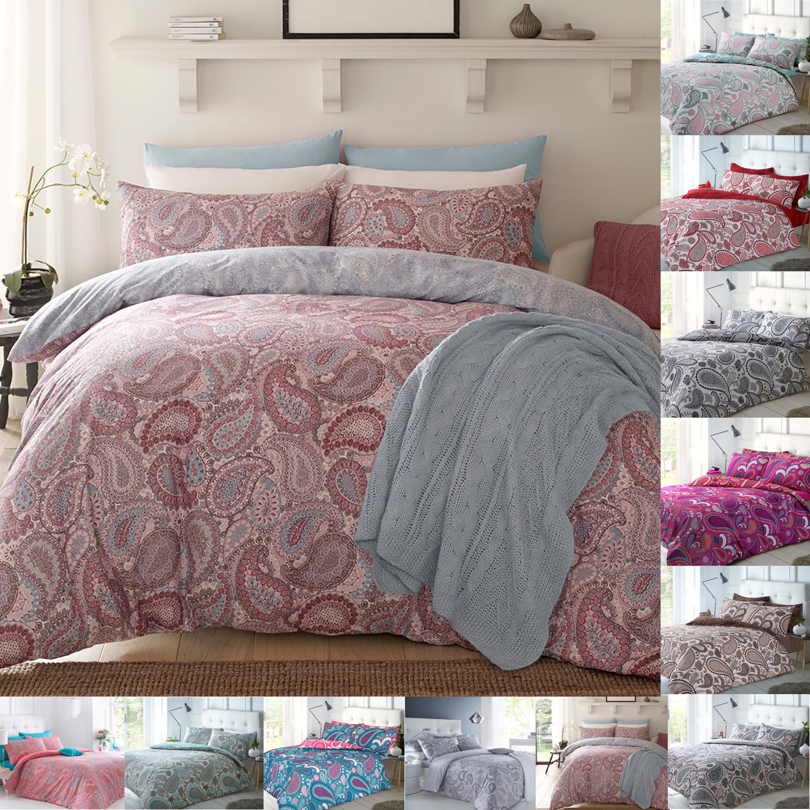 paisley and covers pillowcase duvet cover set elephant bedding