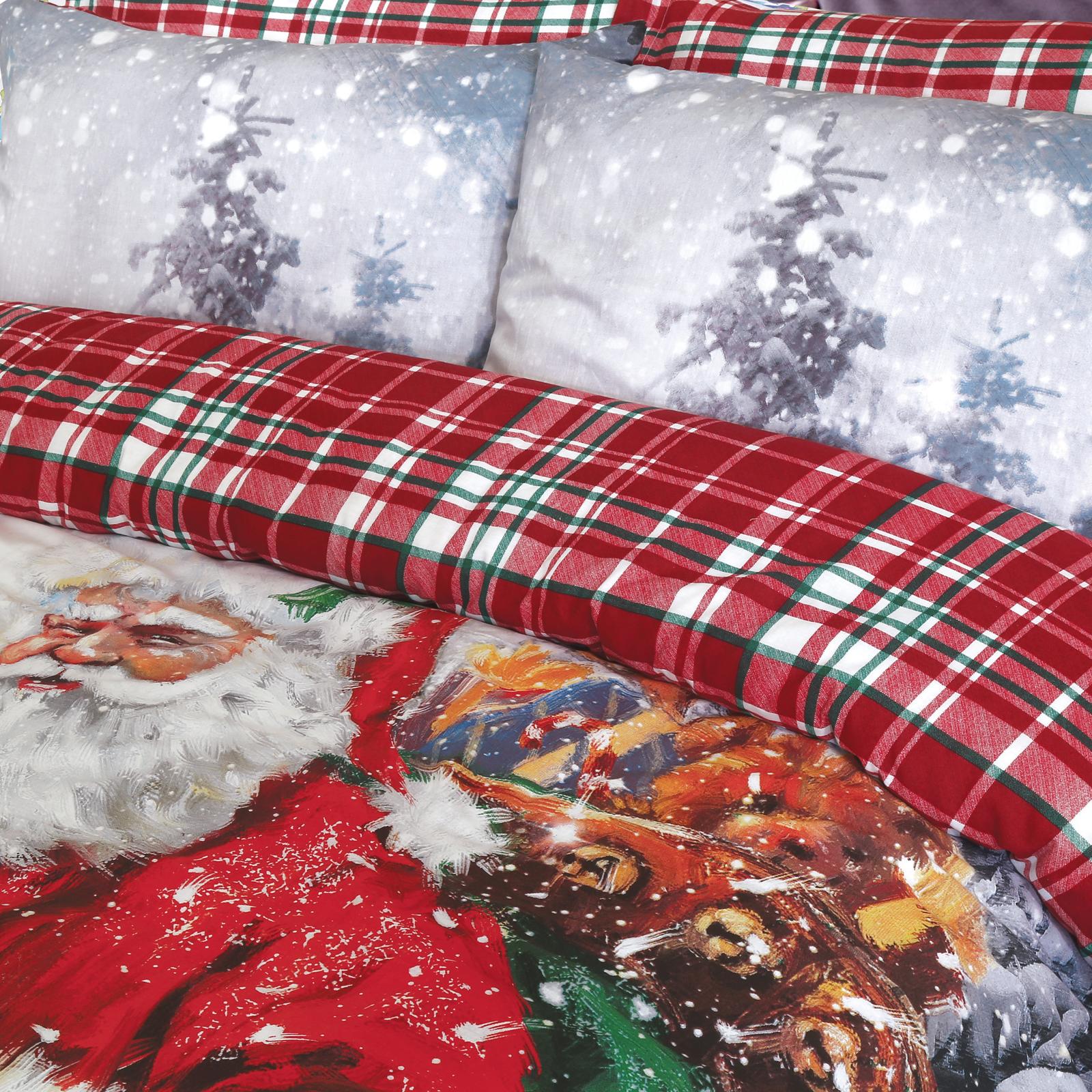 Vintage Father Christmas Duvet Cover Set Wholesale