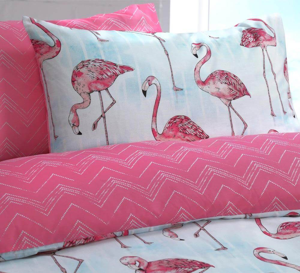 Flamingo Duvet Cover Set And Reversible Bedding