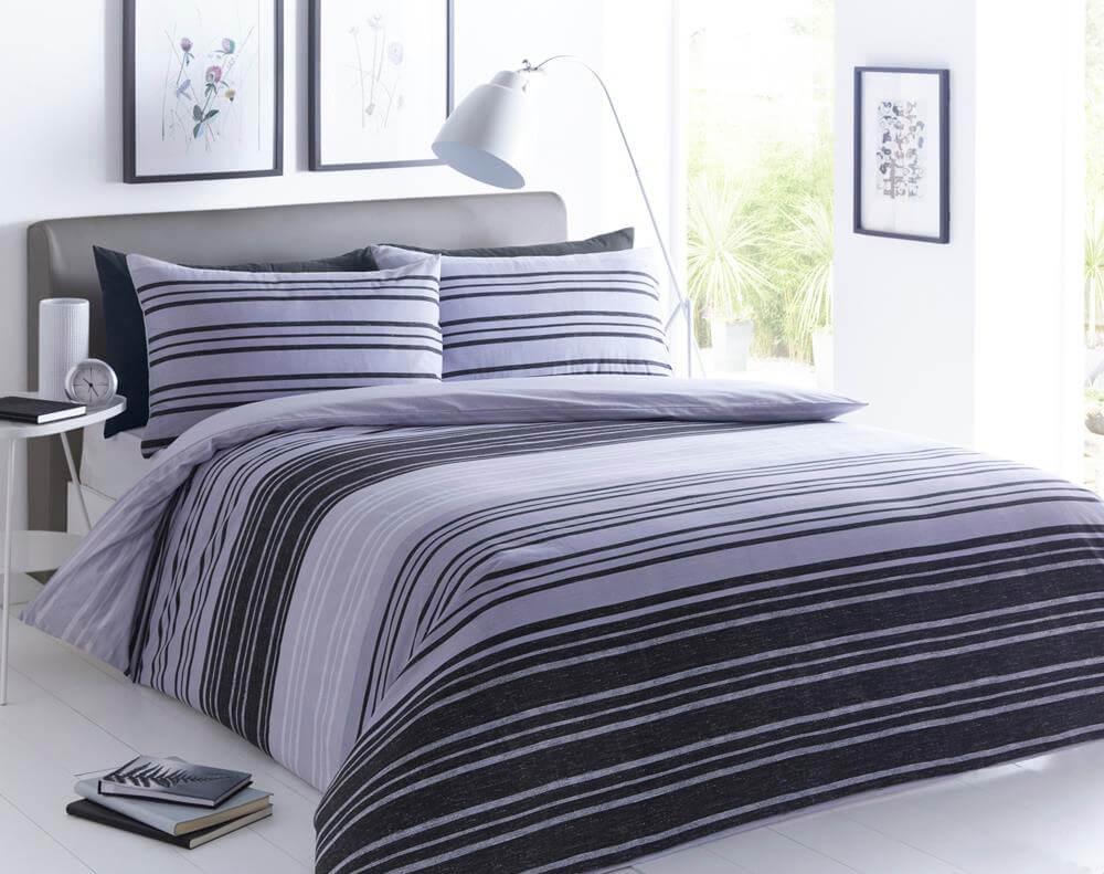 Textured Stripe Duvet Cover Set Wholesale Bedding Store