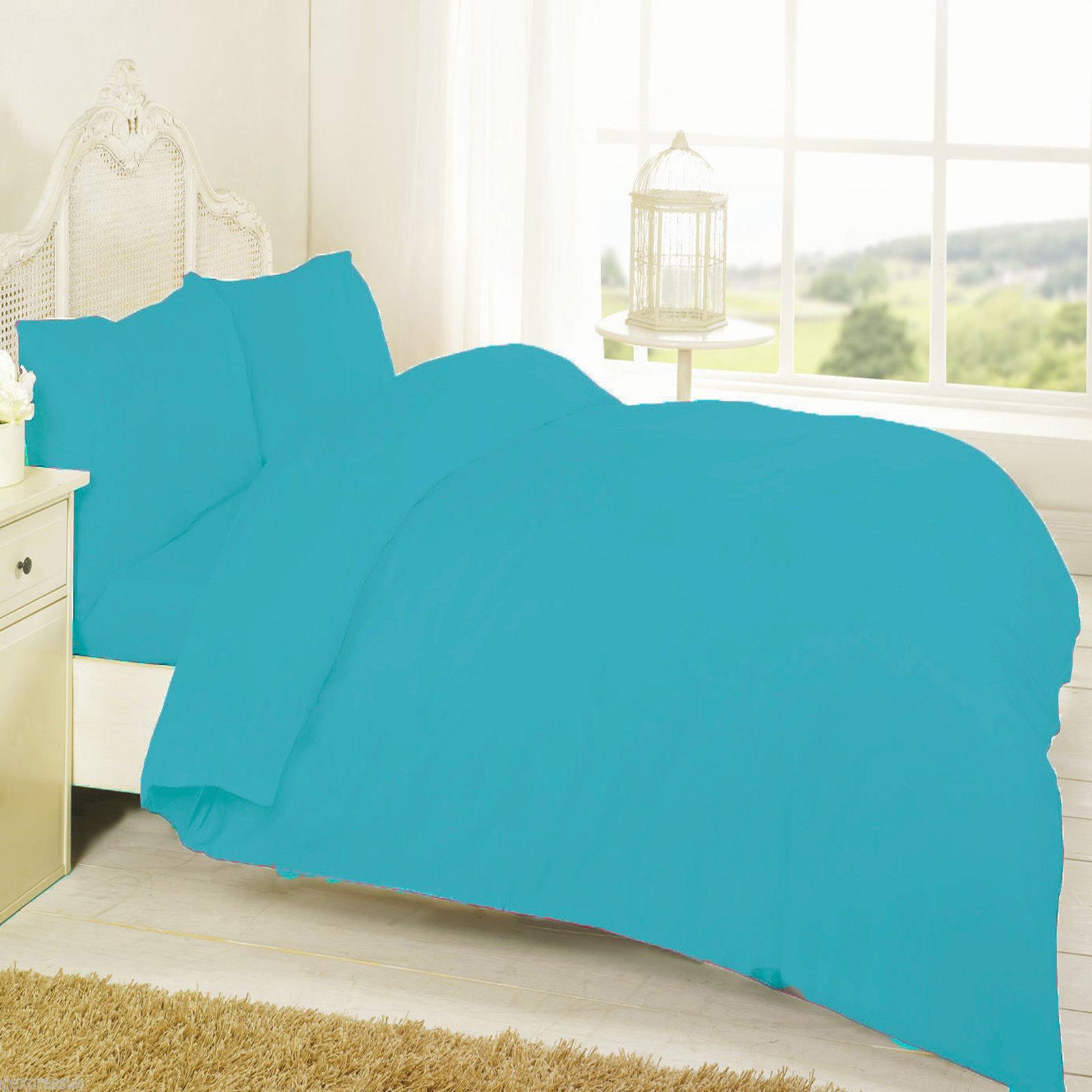 Polycotton Plain Duvet Cover Set Wholesale Bedding Store