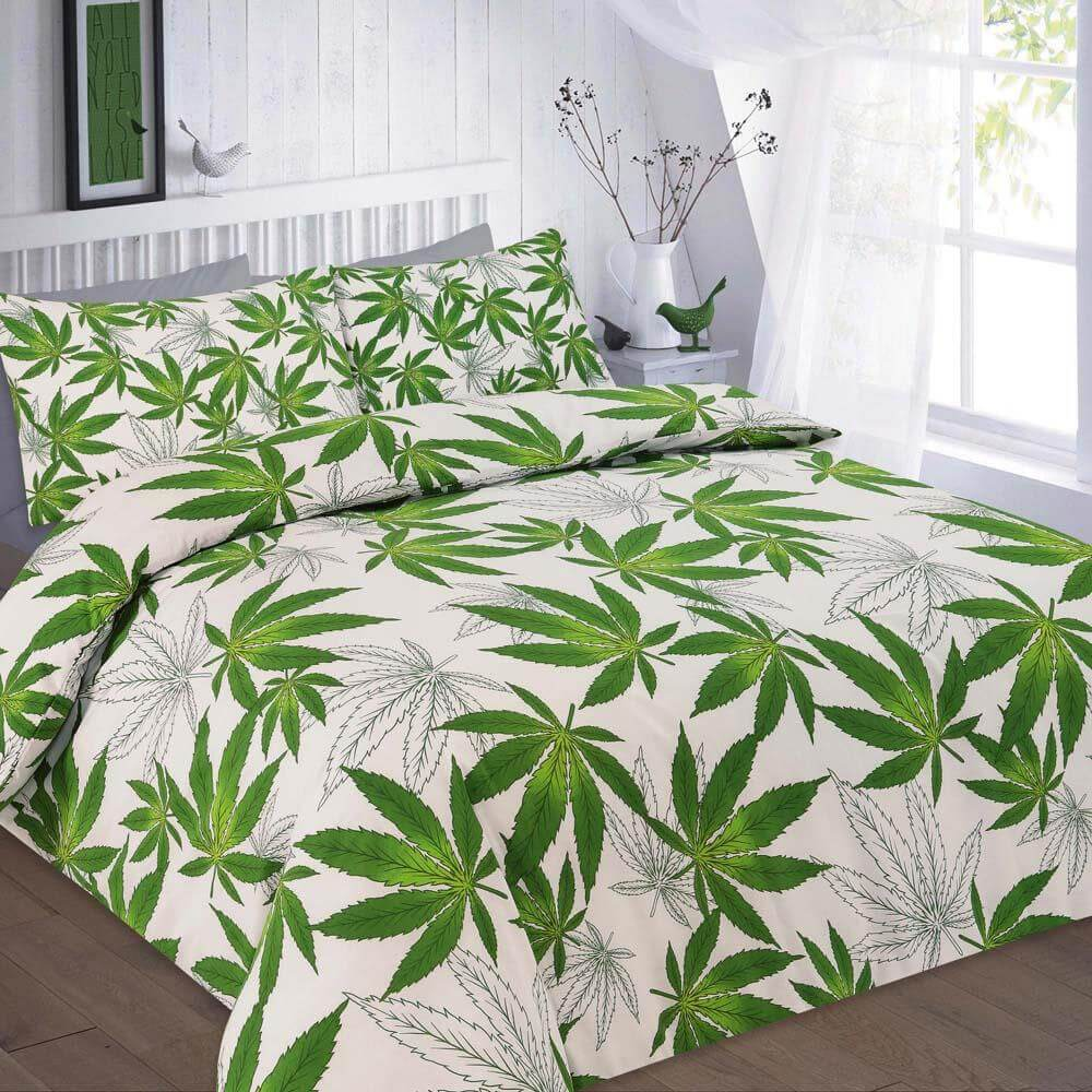 Cannabis Leaf Reversible Duvet Cover Set Wholesale