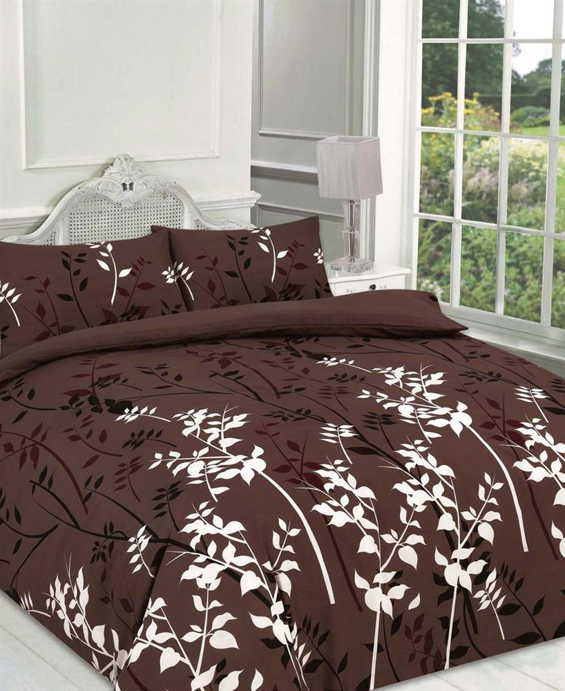bedding brown ebay duvet itm cover sateen quilt set egyptian cotton stripe