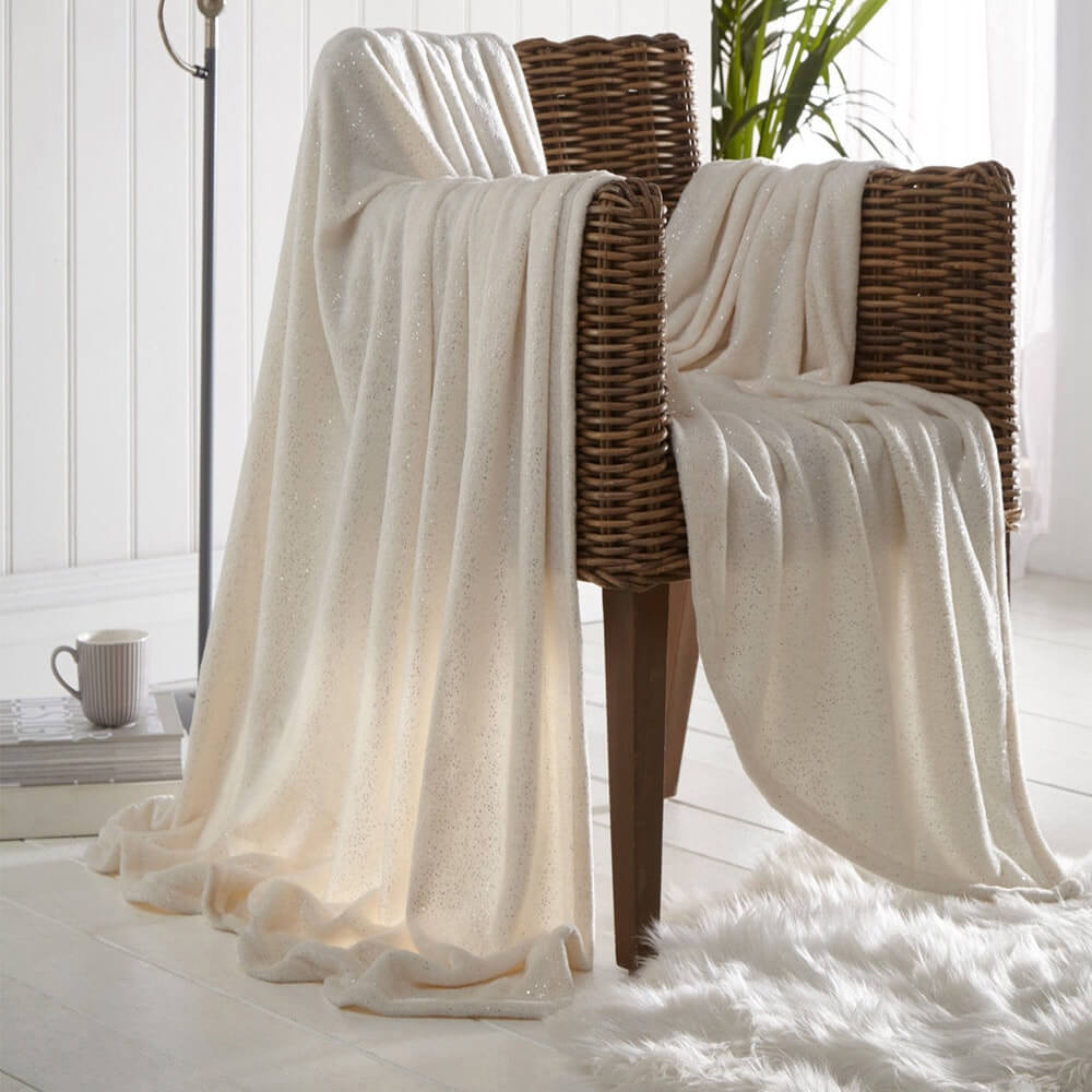 Sparkle Throws Blankets Sparkling Soft Texture De Lavish