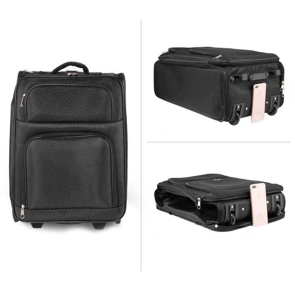 0dc20b4b74c3d ... AGT0016 – black holdall travel trolley luggage with wheels – cabin  approved 3  ...