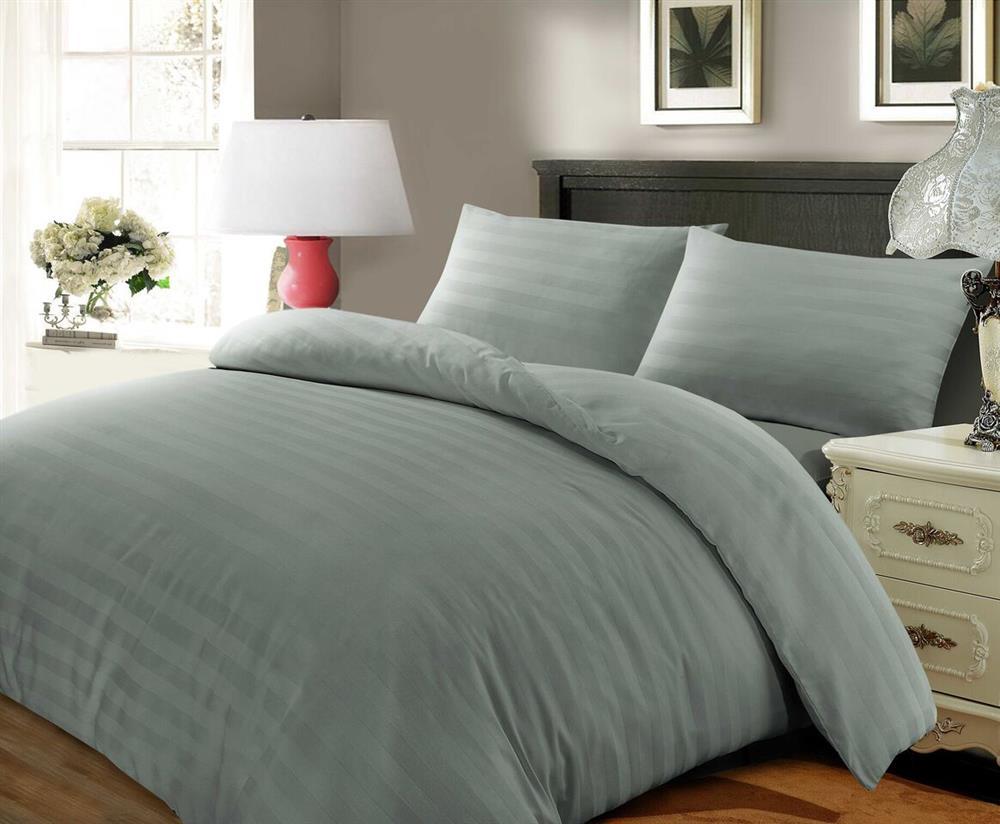 57ae83dc84 Satin Stripe Duvet Cover Egyptian Cotton Bedding Set   Wholesale ...