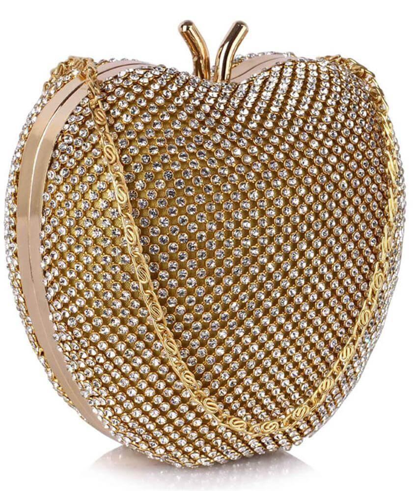 3d3996e1f6012 LSE00331 - Sparkly Heart Shaped Clutch Bag | De Lavish