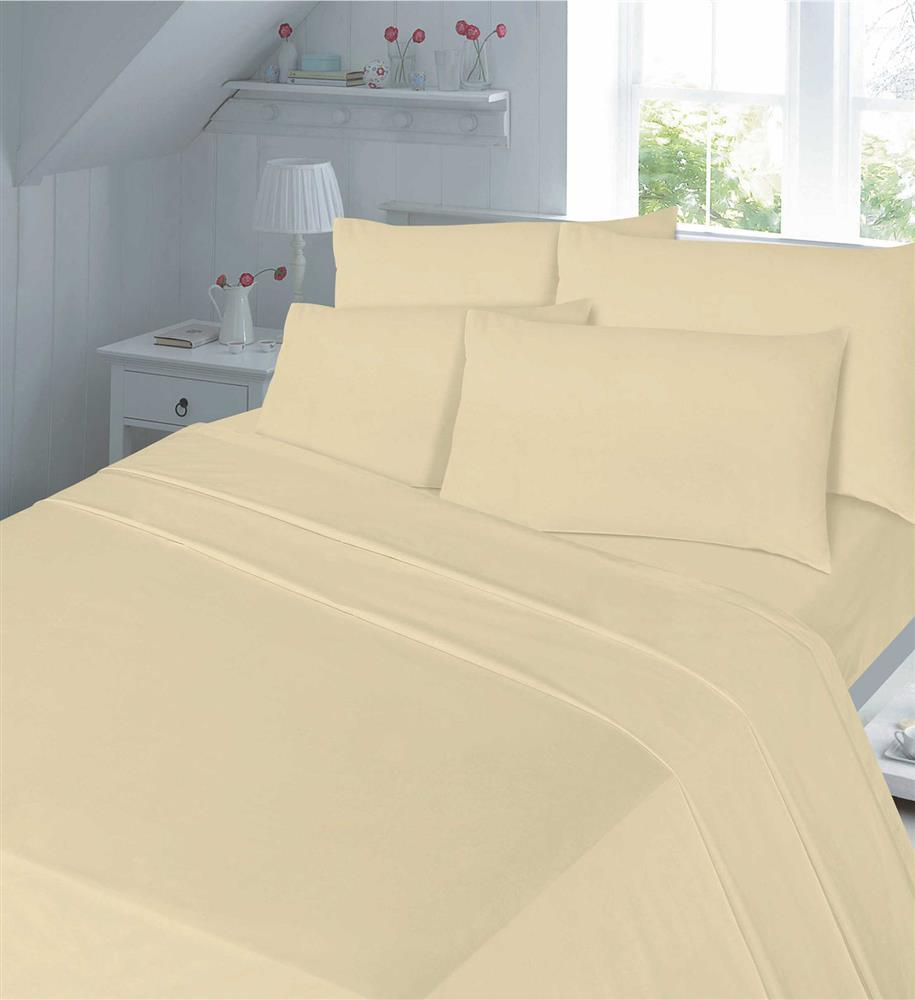 T200 Egyptian Cotton Flat Sheets Latte