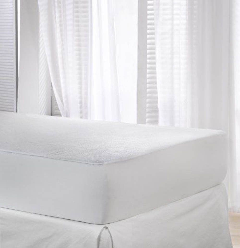 70cm x 140cm Waterproof Fitted Terry Cotton Mattress Protector Topper Cot Bed 70cm x 140cm New
