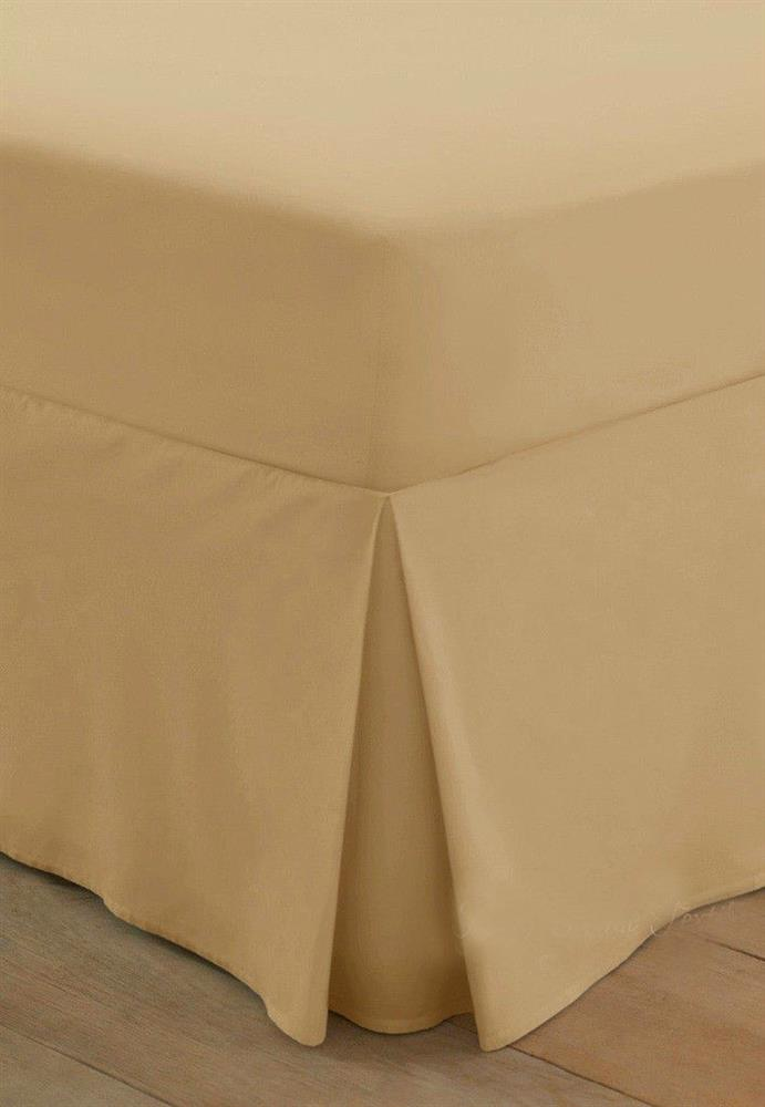 200 Thread Count Egyptian Cotton Box Pleated Valance Sheet