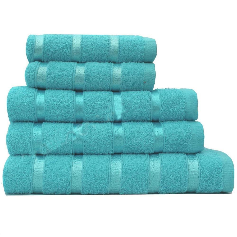 Egyptian Cotton Towels Set Satin Stripe 3 Piece Set 500
