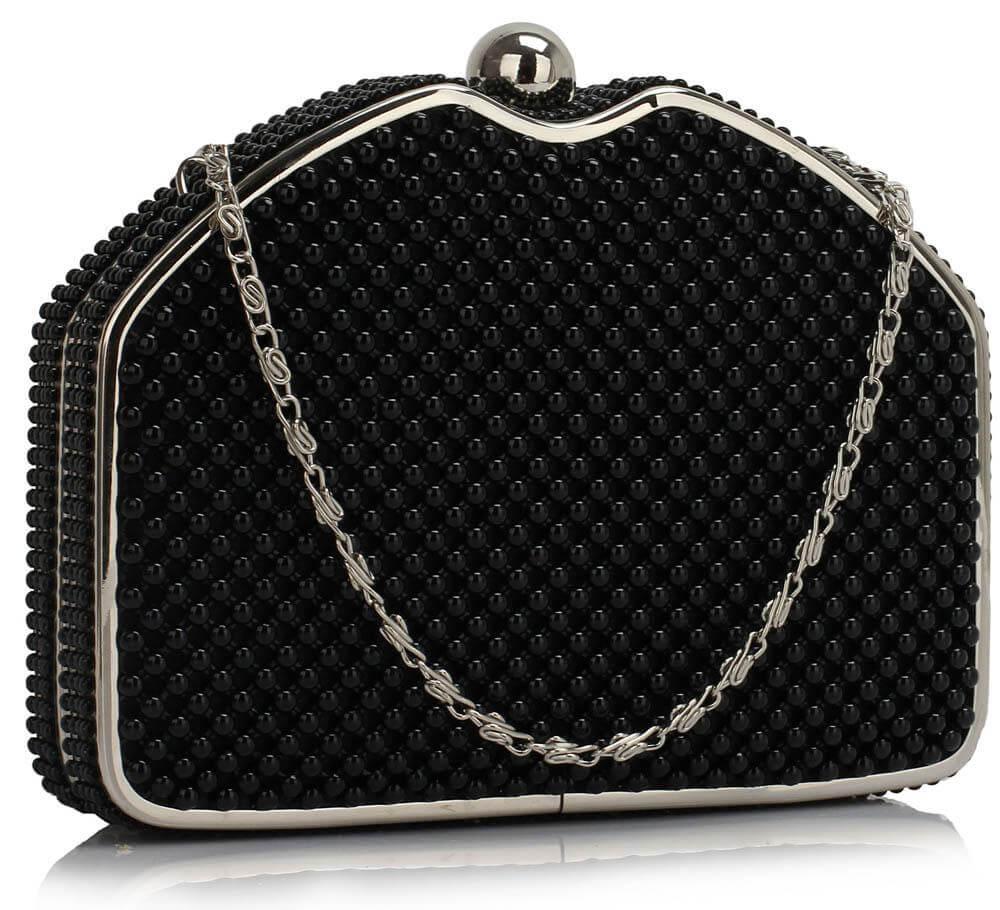LSE00303 Beaded Clutch Evening Bag