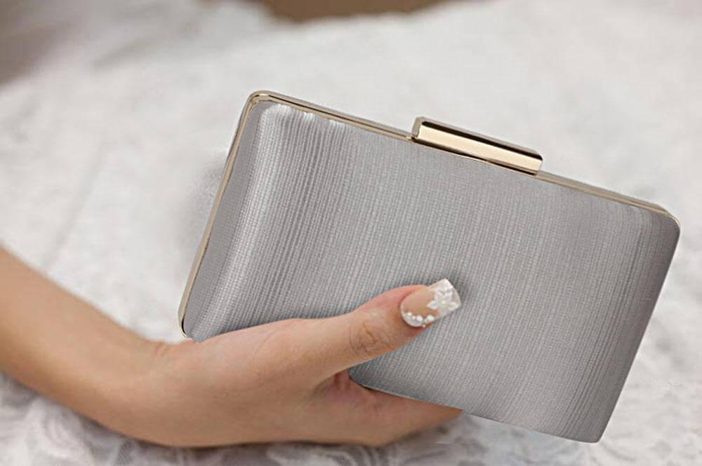 Satin Clutch Evening Bag For Womens | De Lavish