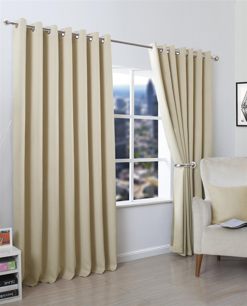 Blackout Eyelet Curtains Set And Cushion Covers | De Lavish