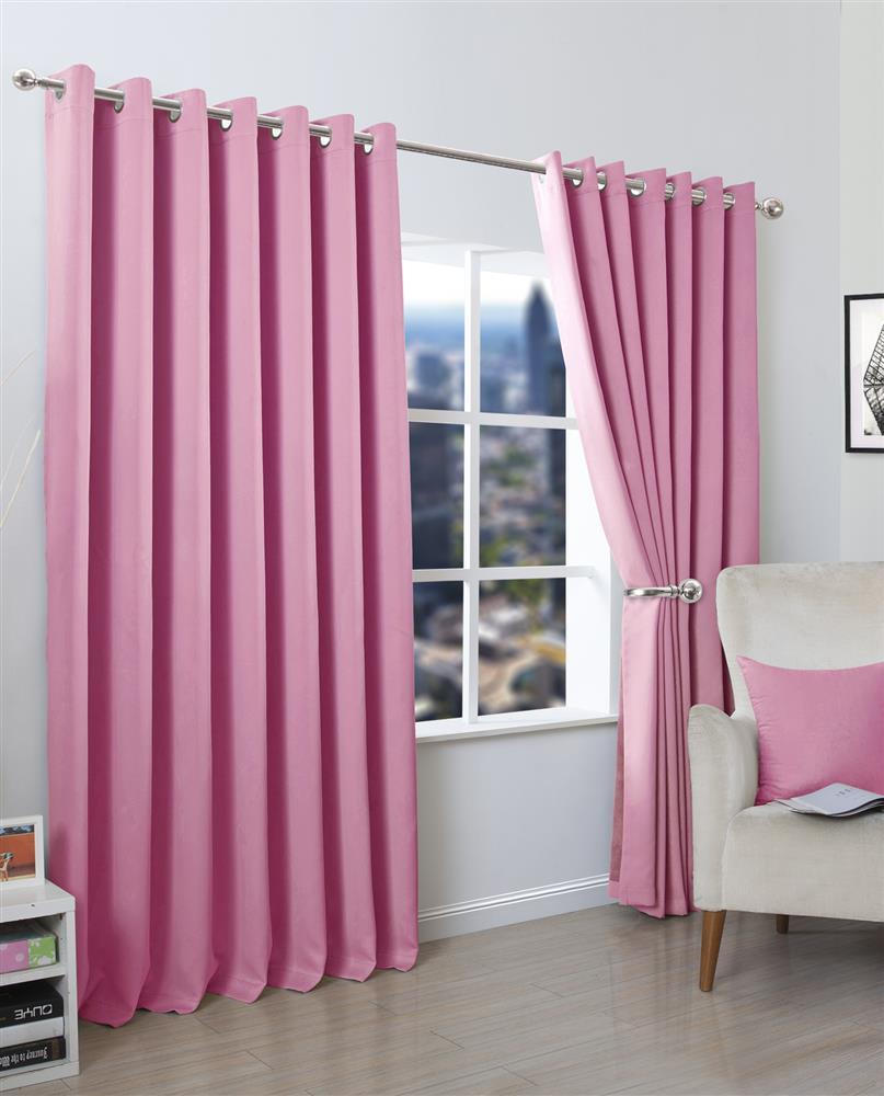 Blackout Eyelet Curtains Set And Cushion Covers De Lavish