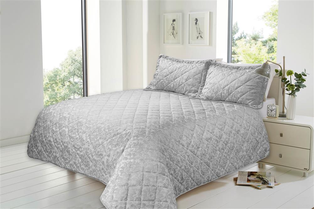 Bedspreads.Luxury Jacquard Quilted Bedspreads With Pillow Shams Double Size Bed
