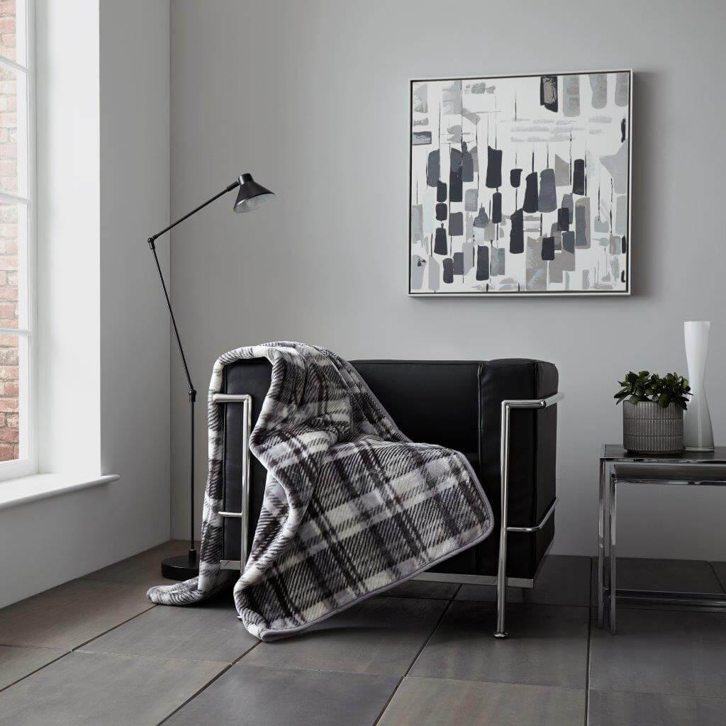 Check Design Sofa Throws
