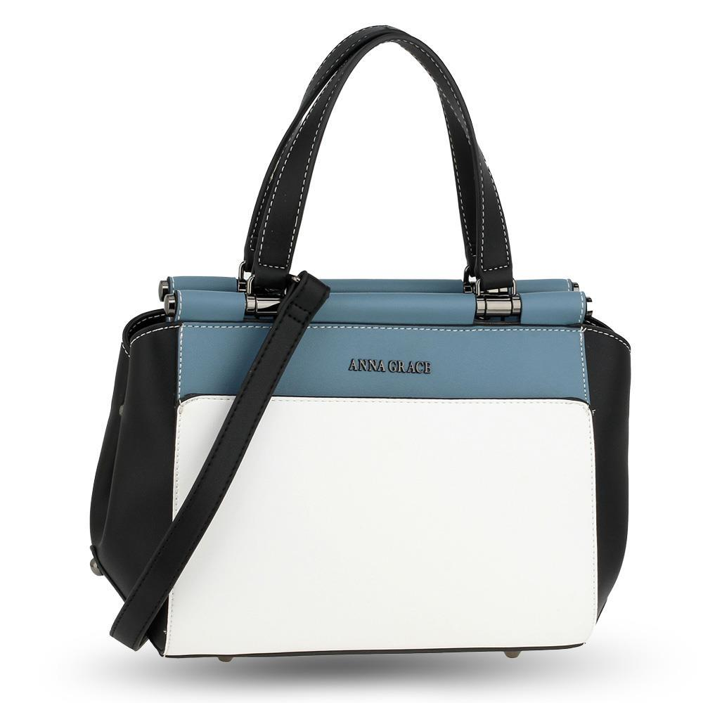 ag00694 blue white black womens shoulder handbag ... 5535f159e93ad