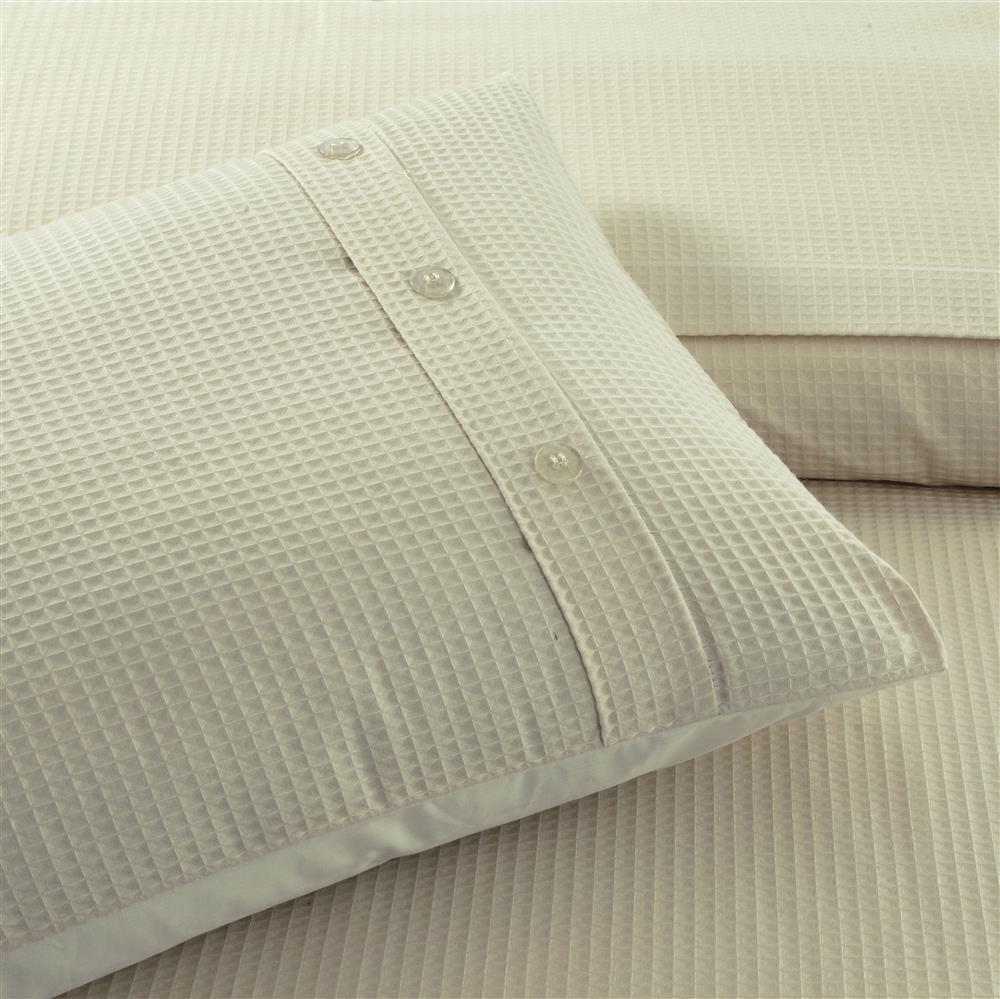 Luxury Designer Waffle Duvet Cover Set Bedding Pillow