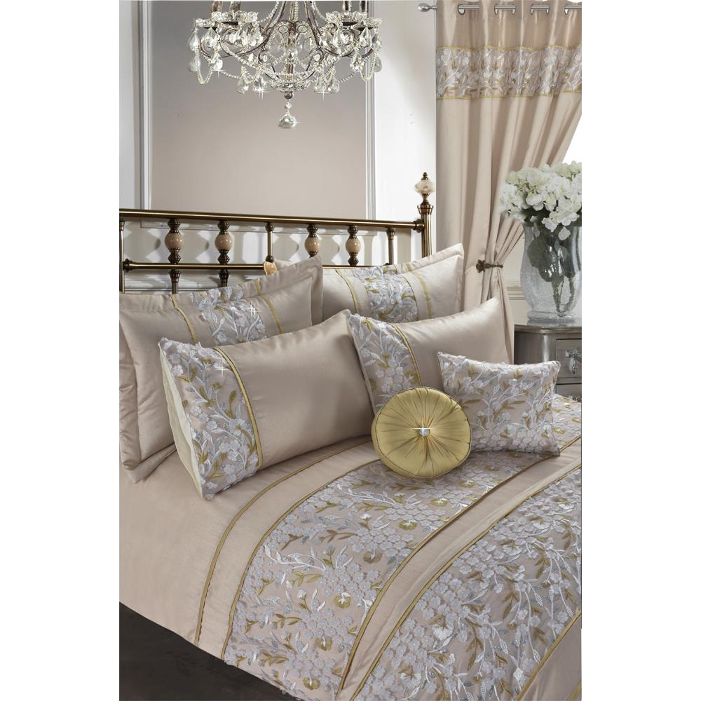 Luxury Embroidered Duvet Cover Set With Pillow Cases Designer Curtains, Throw & Cushions