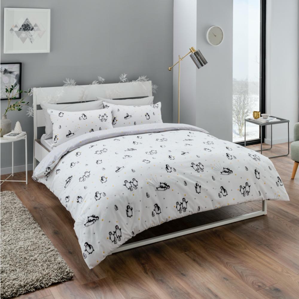 Flannelette Duvet Cover 100 Brushed Cotton Bedding Set