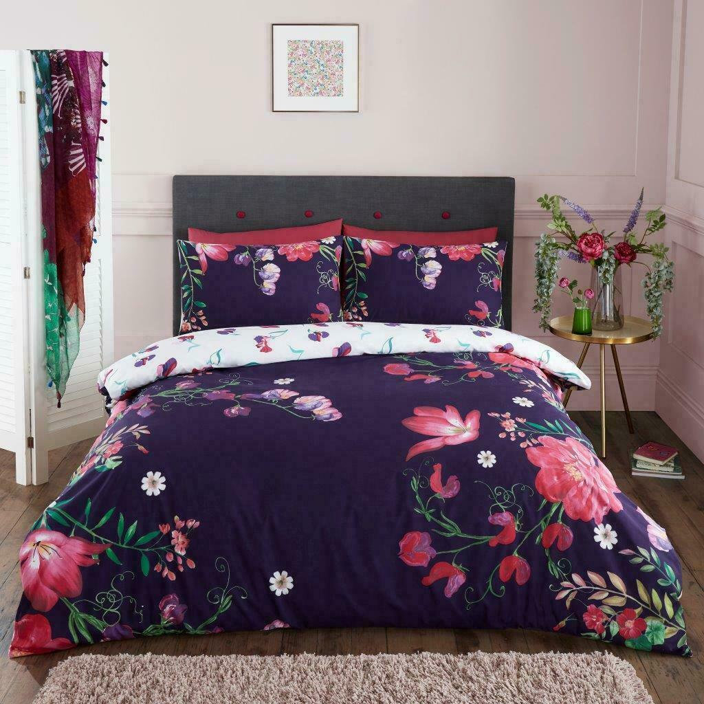 New Duvet Cover Set Double King Size Single Cactus Prints Floral Bedding Quilt